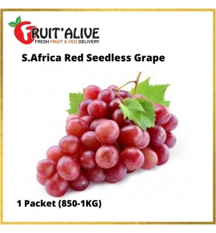S.AFRICA SEEDLESS RED GRAPE (900G-1KG)