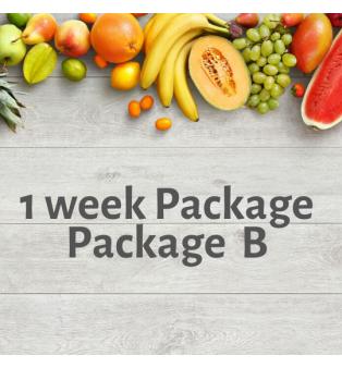 1 week Package - Package B