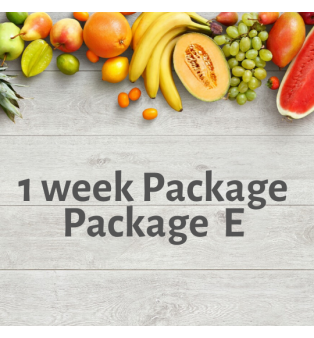1 week Package - Package E