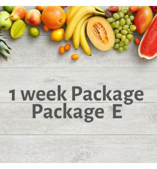 1 week Package - Package E