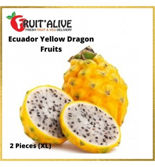 ECUADOR YELLOW DRAGON FRUITS- 1 CARTON(7 PCS)