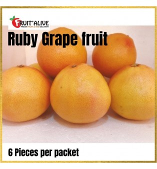 RUBY GRAPE FRUITS - 6 PIECES PER PACKET