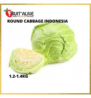 ROUND CABBAGE INDONESIA (1.2-1.4KG)